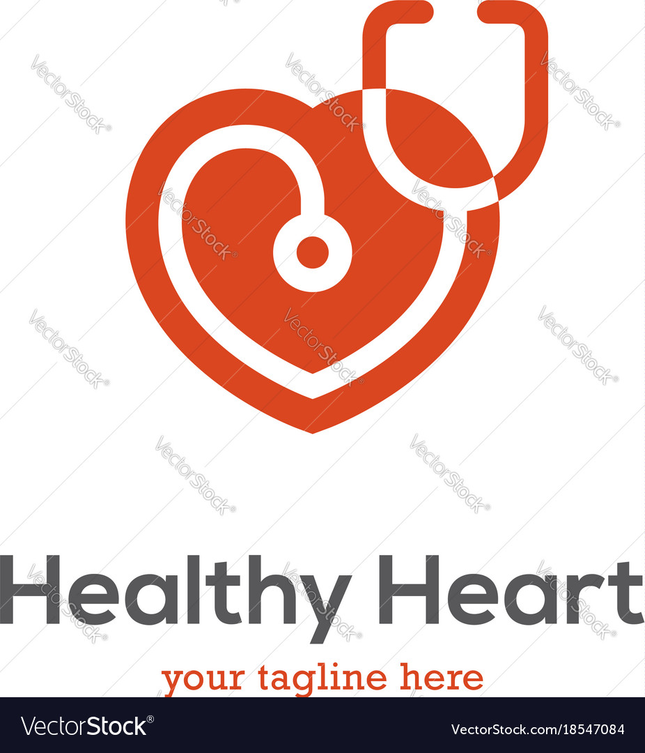 Heart logo with stethoscope