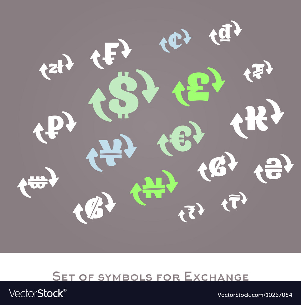 Isolated Currency Exchange Signs Set Royalty Free Vector