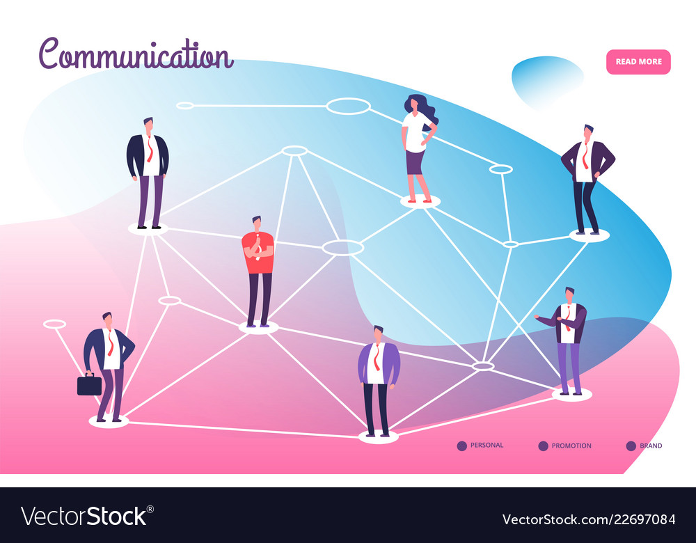 Network connecting professional people global