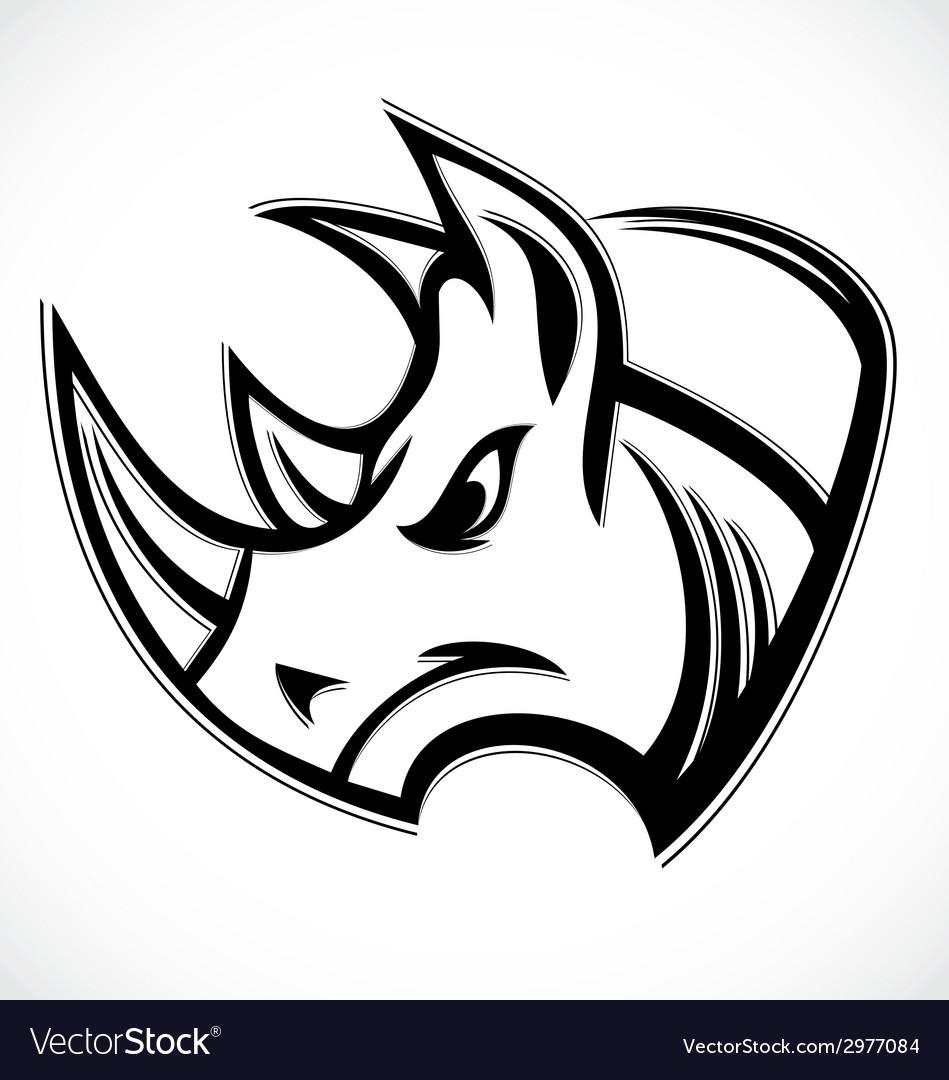 Rhino Head vector image