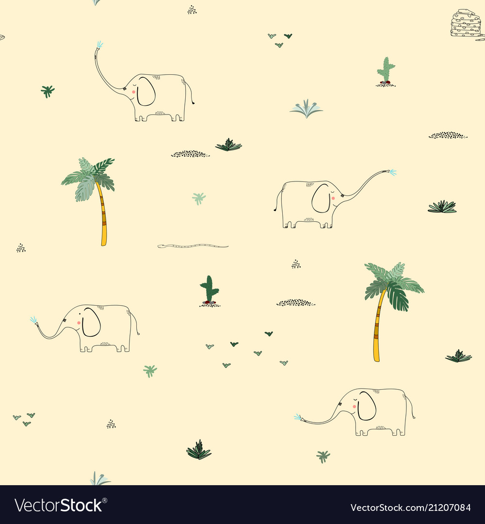 Seamless pattern background with african funny