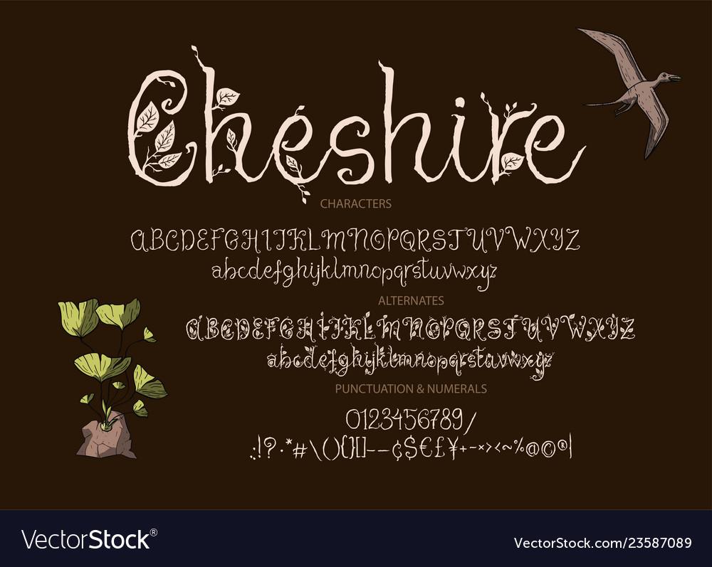 Alphabet calligraphy signs