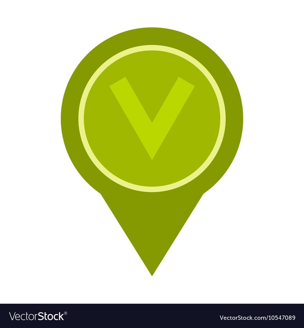 Button checkbox icon flat style