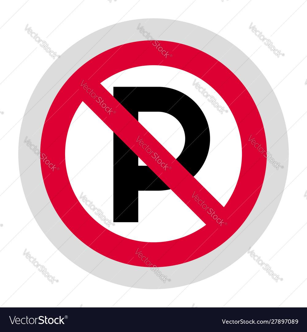 Forbidden sign modern round sticker