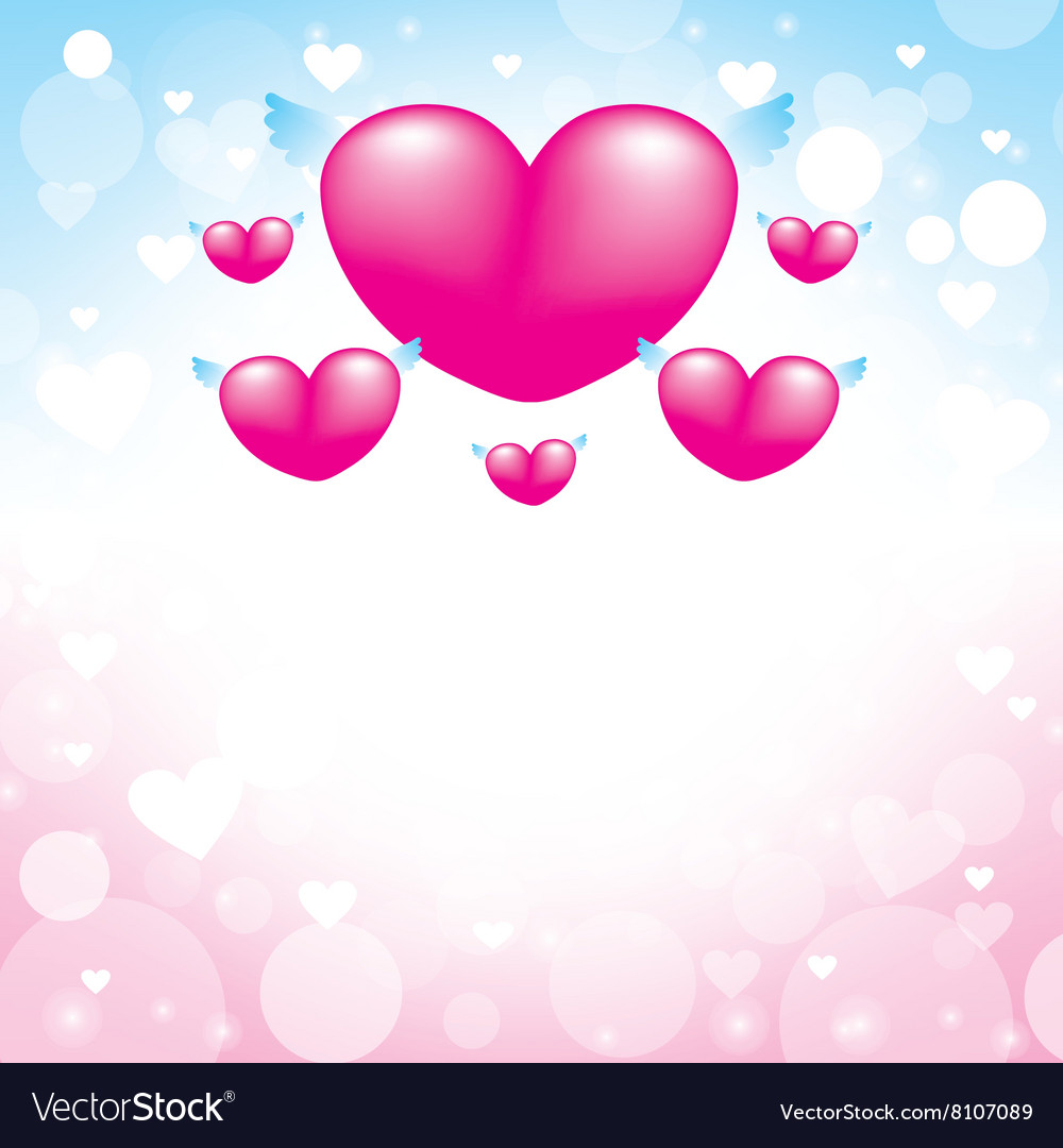 Love heart pink background