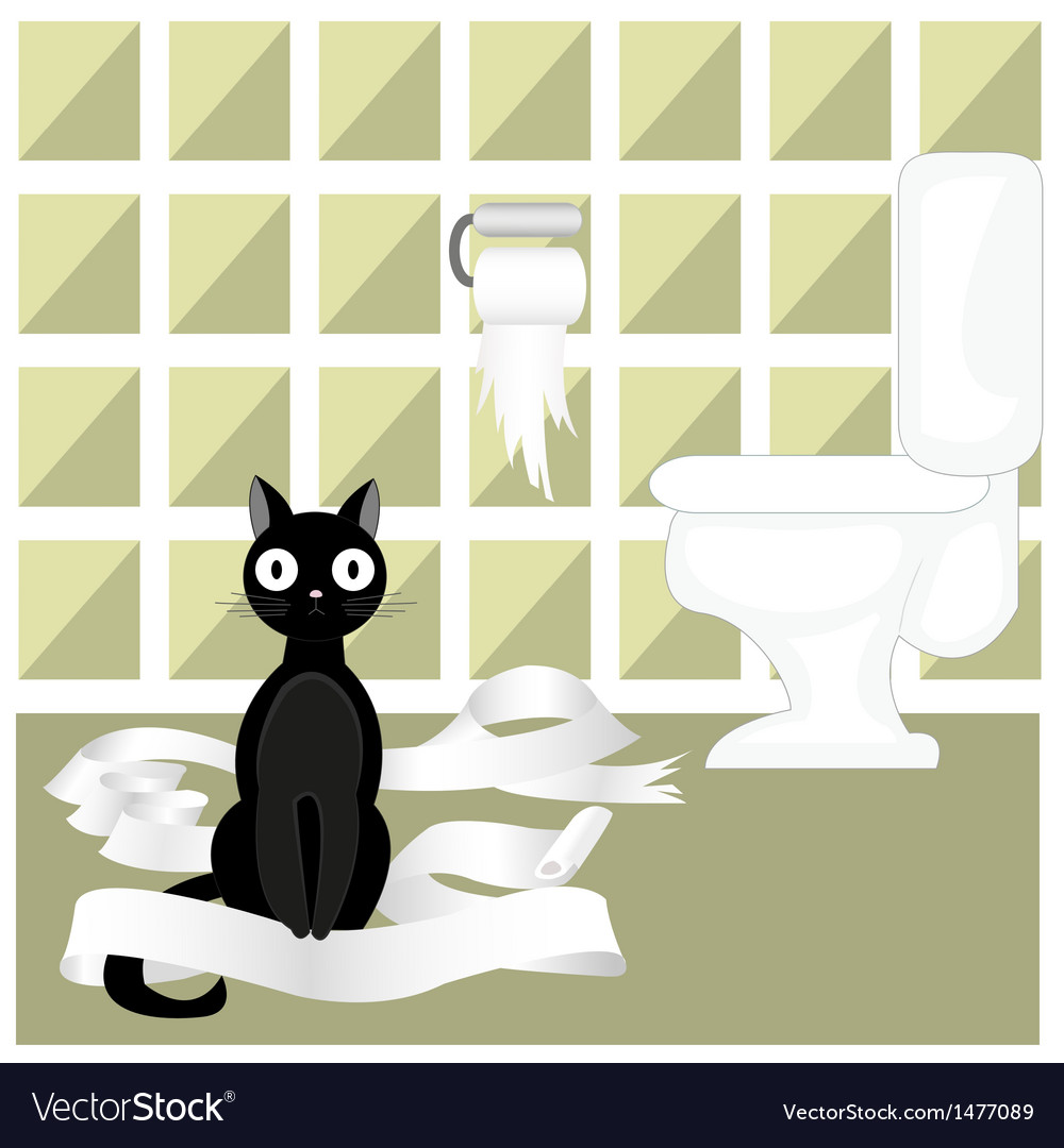 Naughty cat vector image