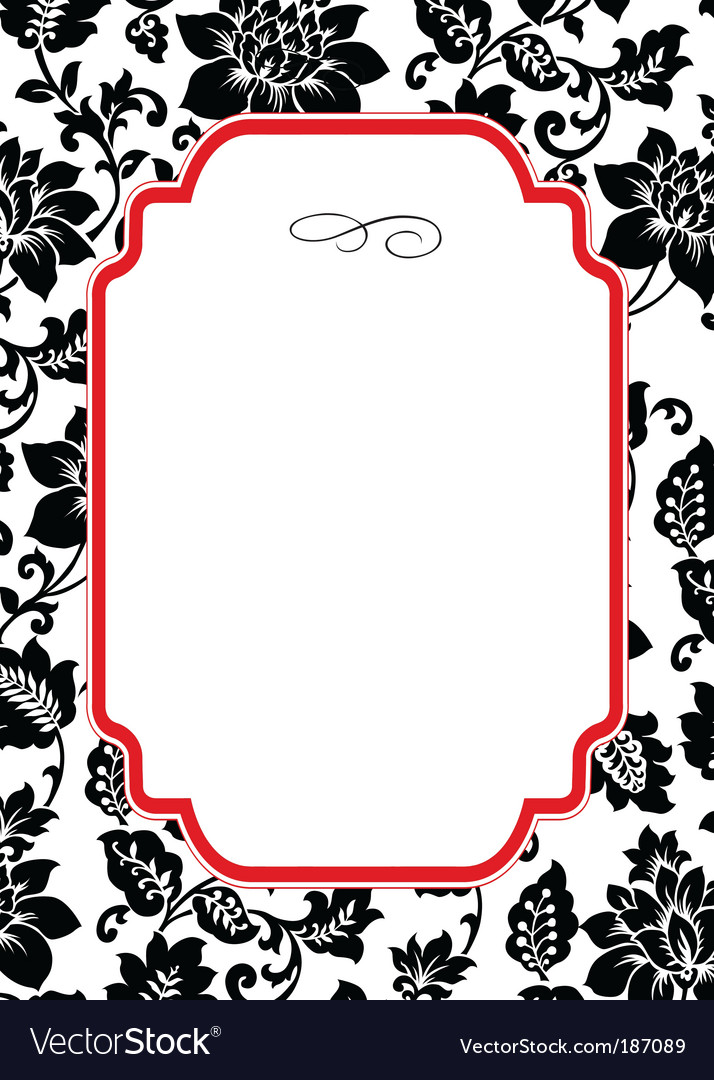 Rose pattern and frame