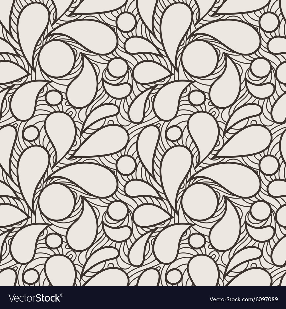 Seamless pattern of stylized petals