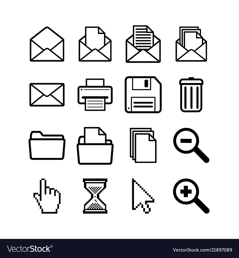 Set general user interface pictograms