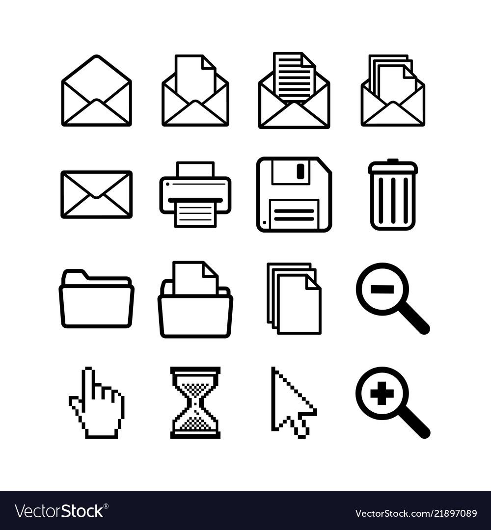Set general user interface pictograms