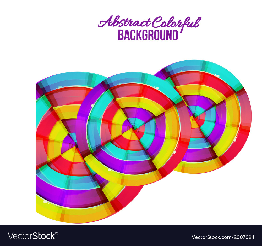 Abstract colorful rainbow curve background design