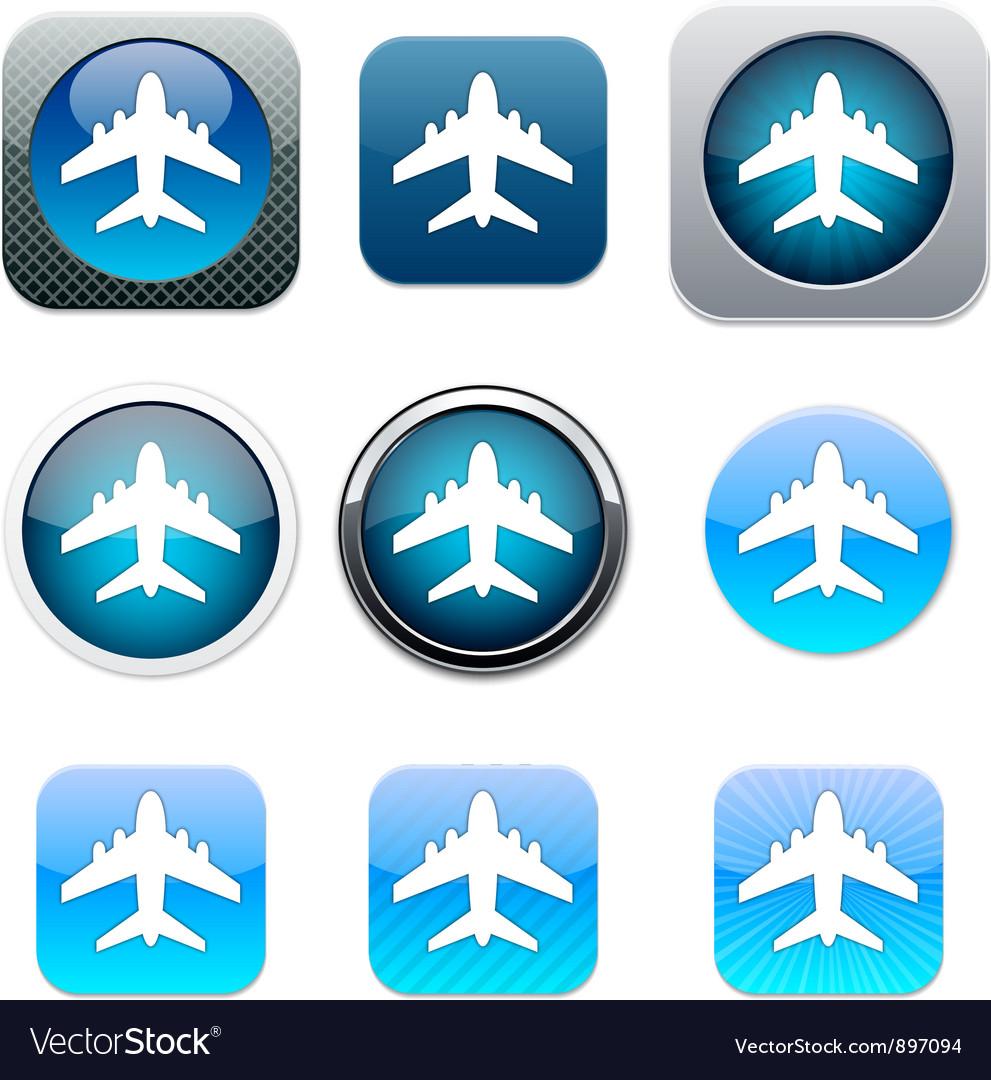 Aircraft blue app icons
