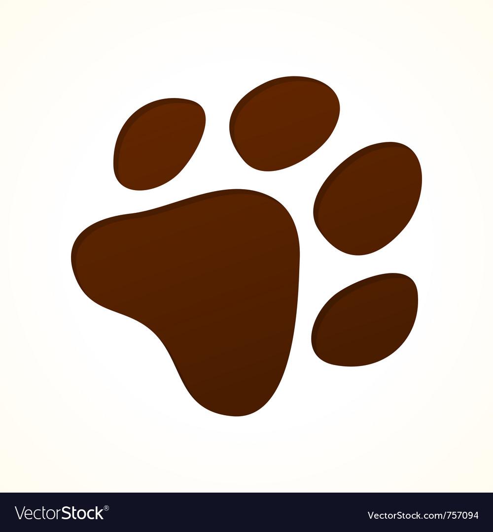 Brown footprint