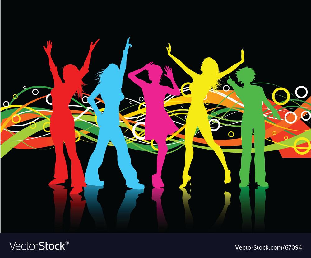 Female dancers vector image