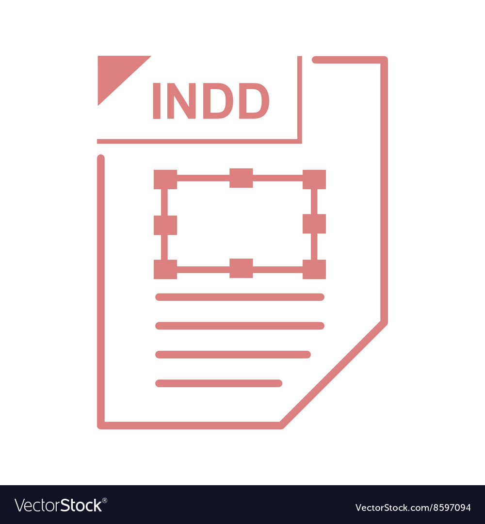INDD file icon cartoon style vector image