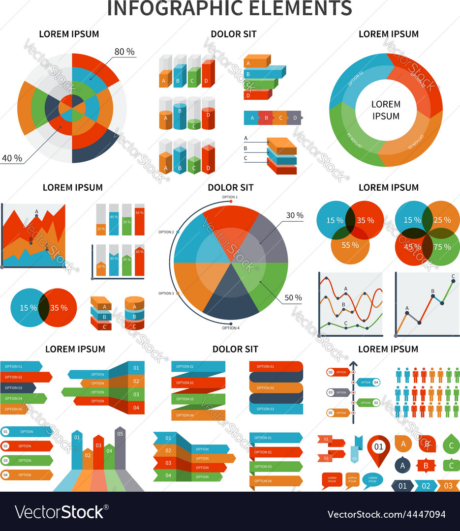 Modern set of business infographic elements