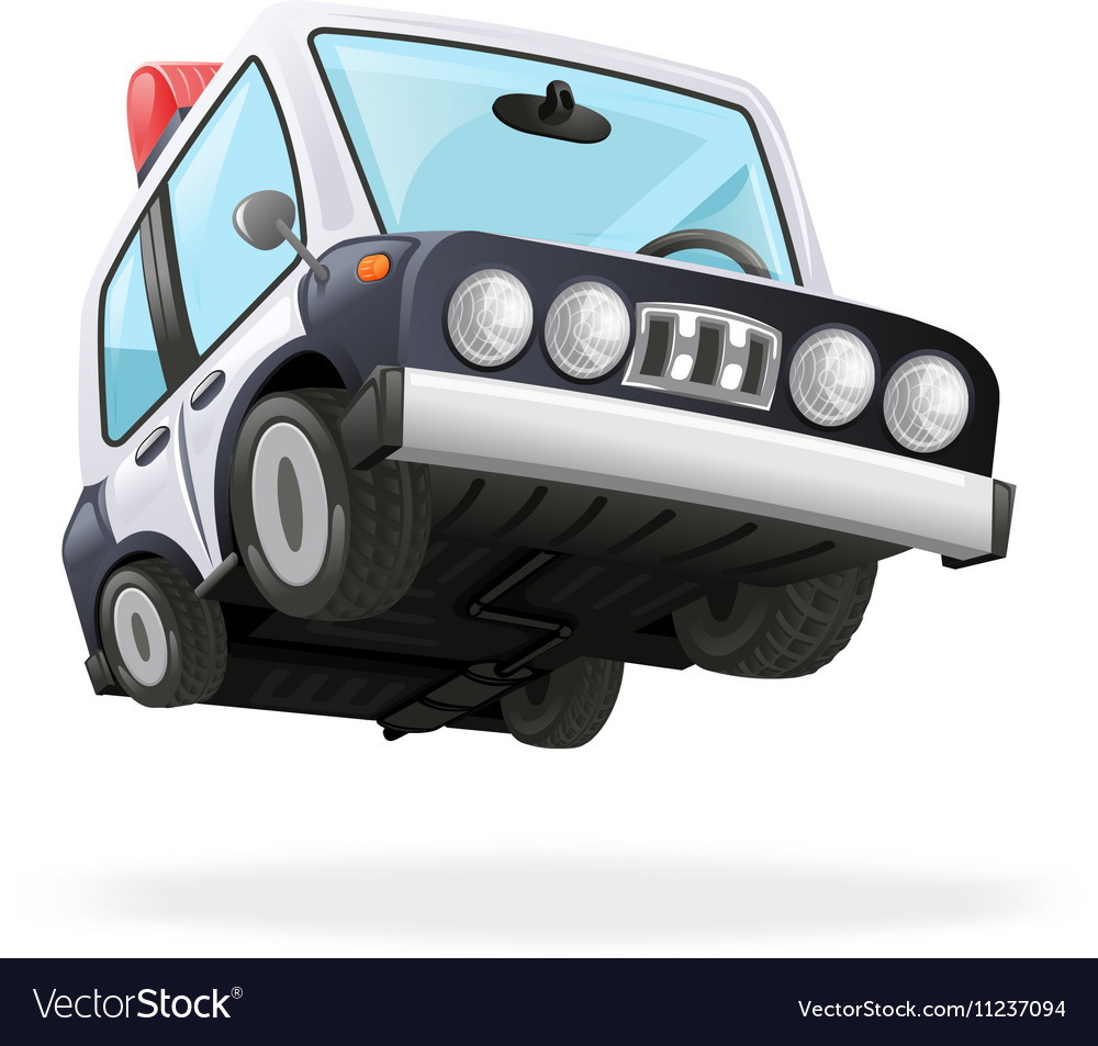 Police Car Icon Law Isolated Realistic 3d Design vector image