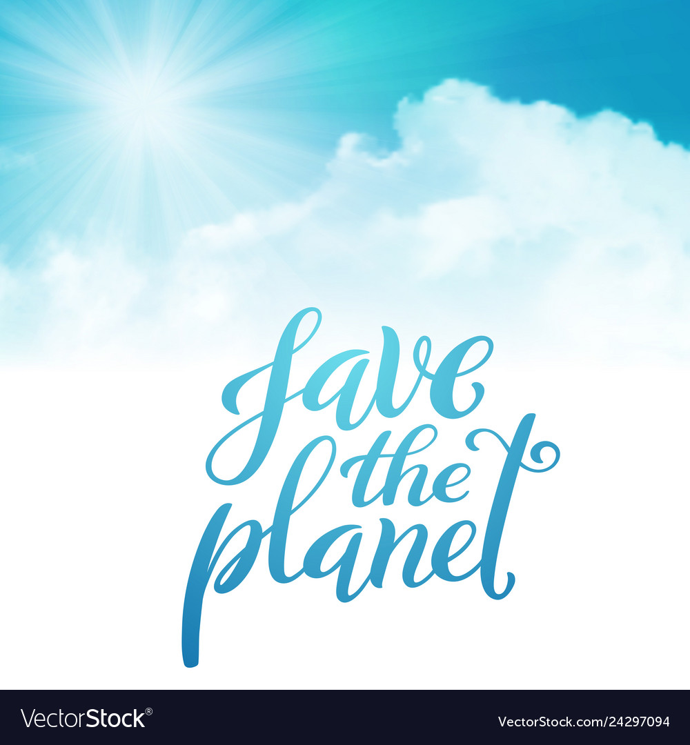Save the planet template for poster with