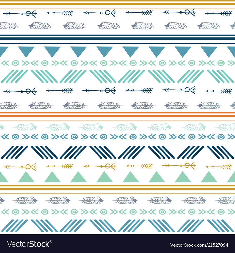 Tribal colorful seamless repeat pattern