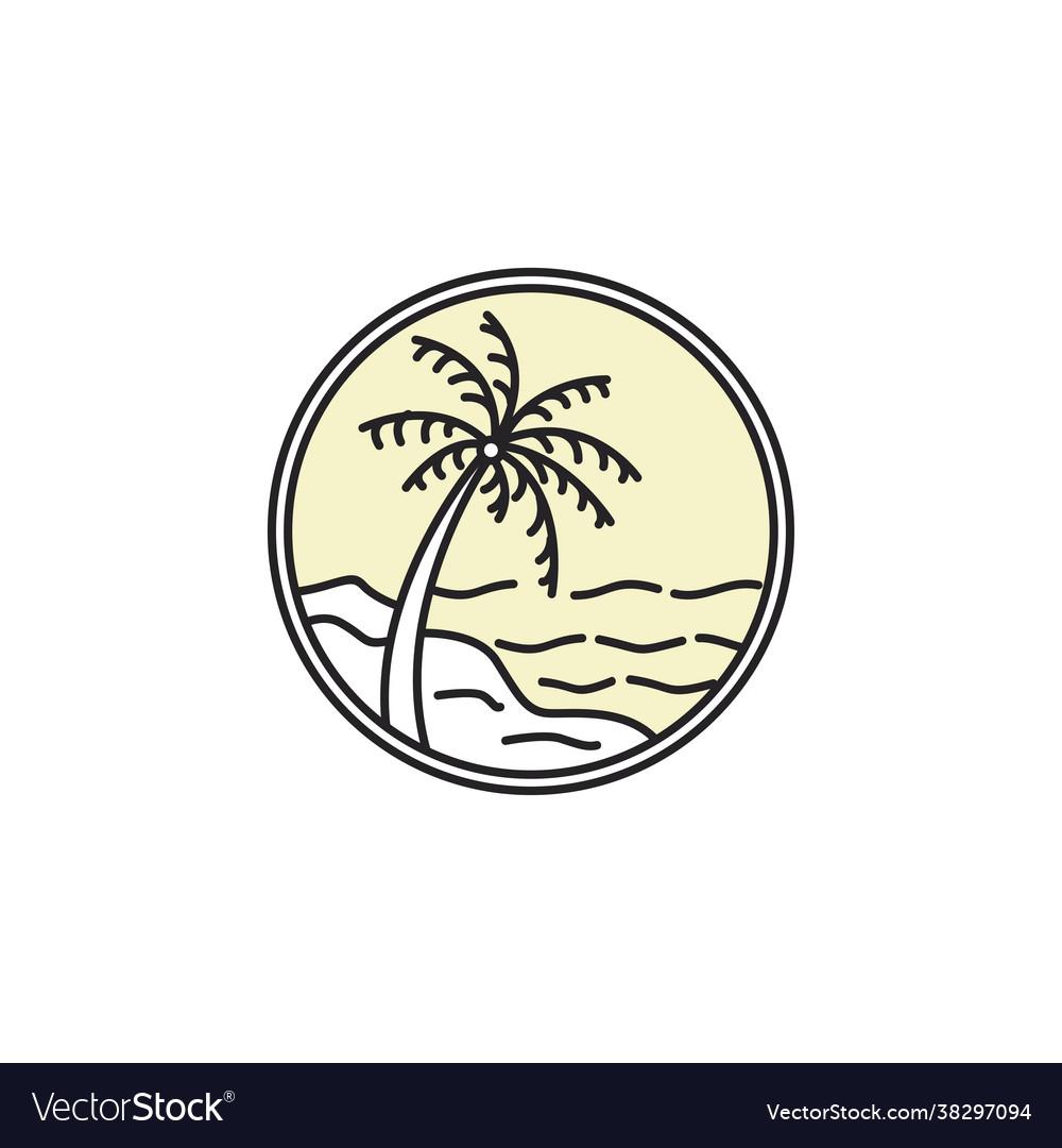 Tropical emblem logo