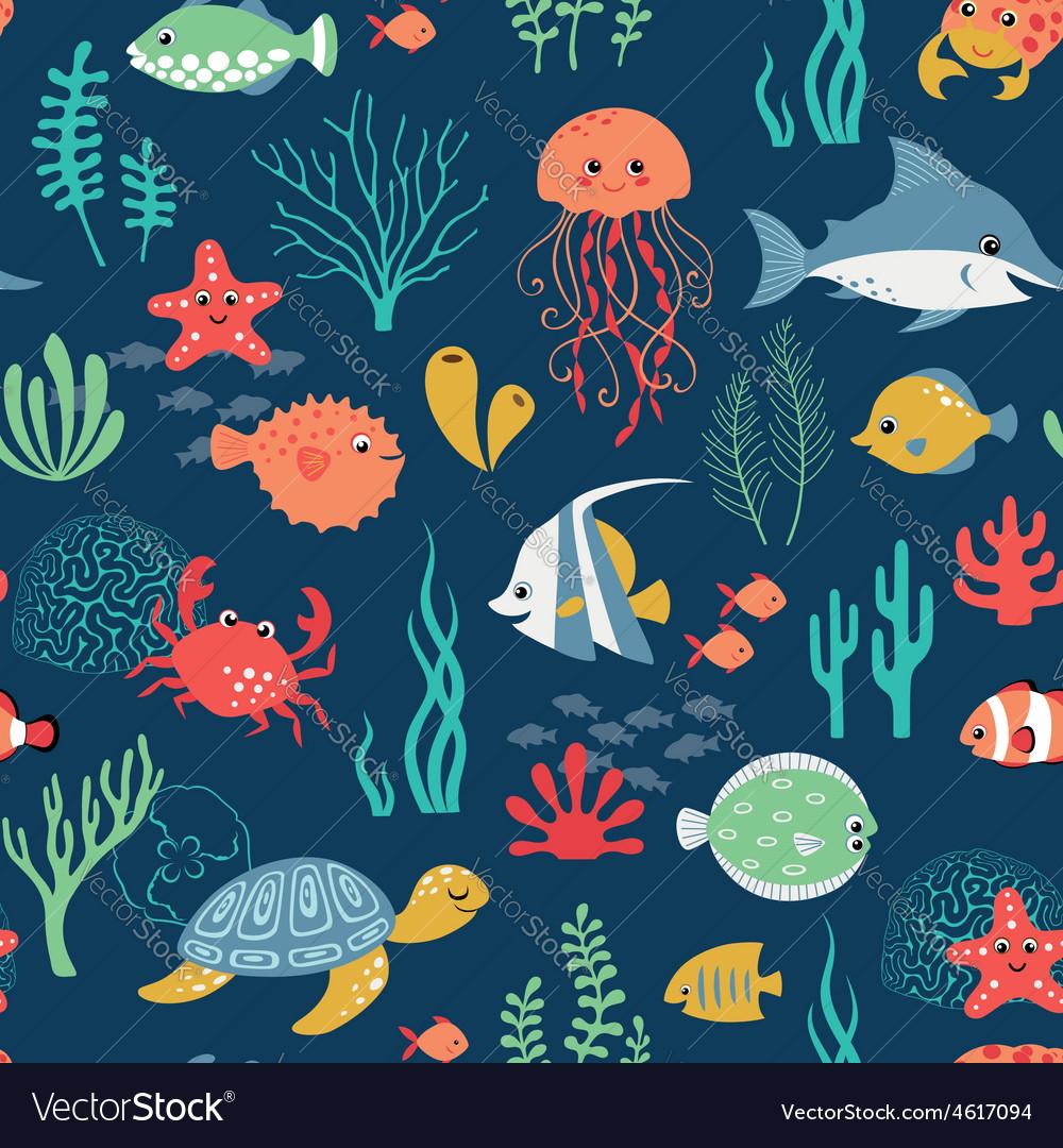 Undersea life pattern