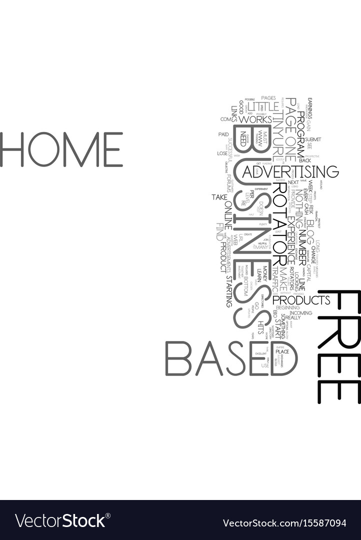 Your free home based business text word cloud