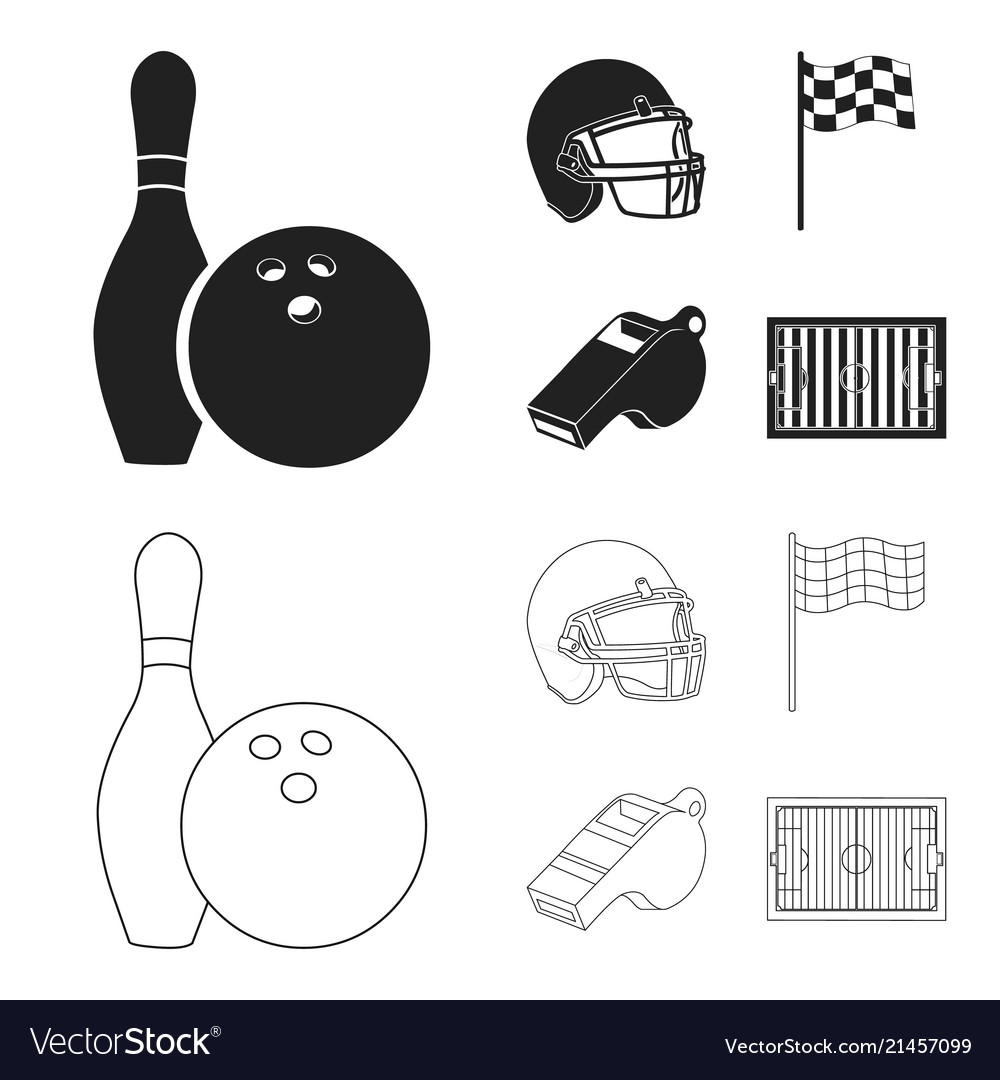 Bowl And Bowling Pin For Protective Vector Image
