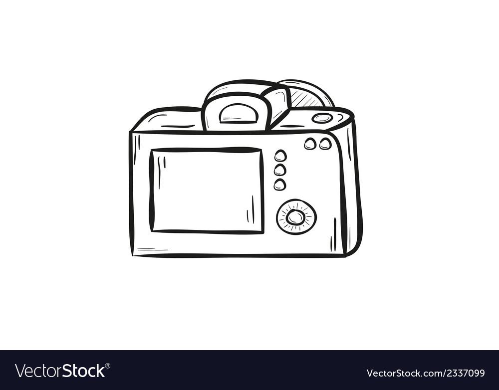 Camera back side vector image