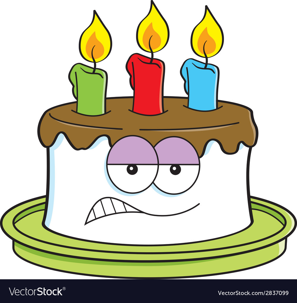 cartoon angry birthday cake royalty free vector image rh vectorstock com cake vector free download cake vector logo