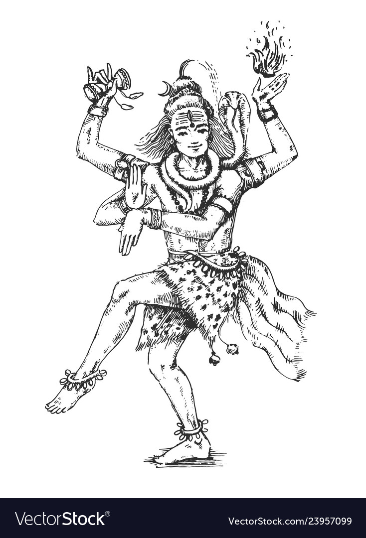 Dancing lord shiva indian