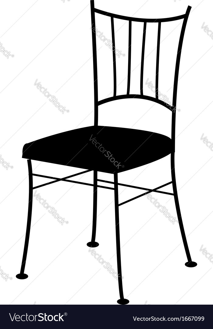 Dining chair- logo for interior design Royalty Free Vector