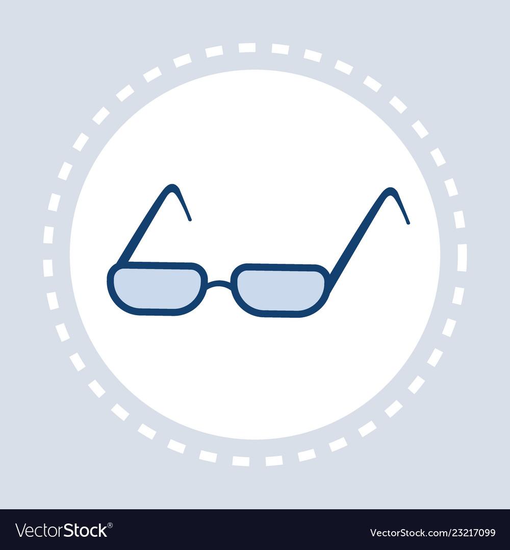 Eye glasses icon optical elegant eyeglasses flat