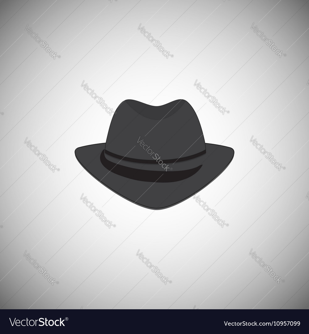 Grey vintage hat with a brim vector image
