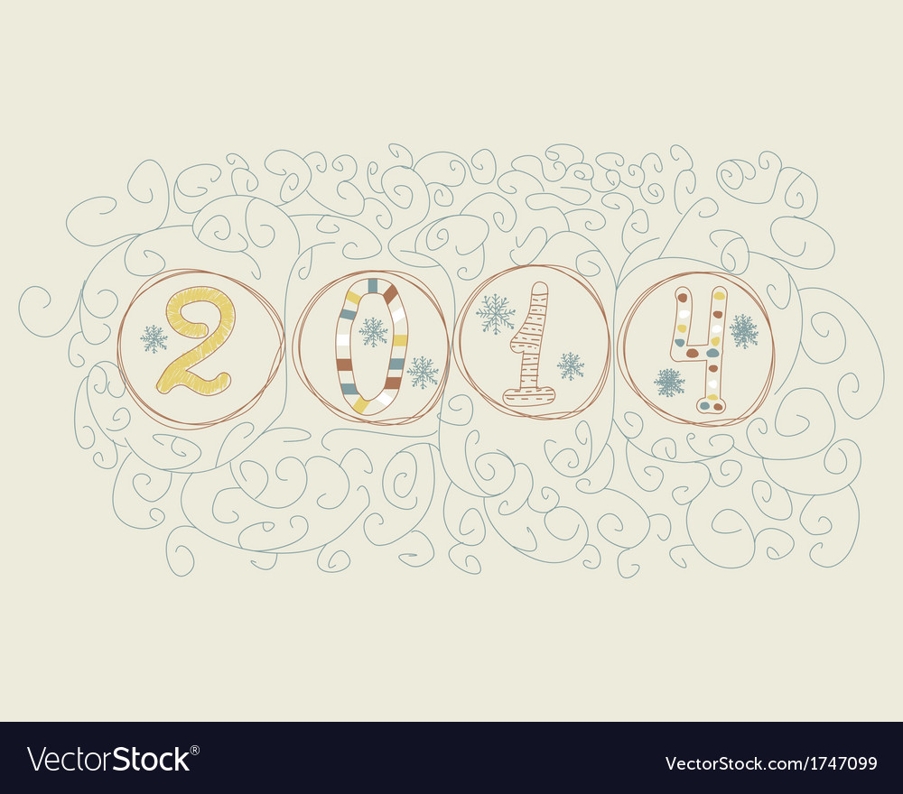 Hand drawn 2014 numbers