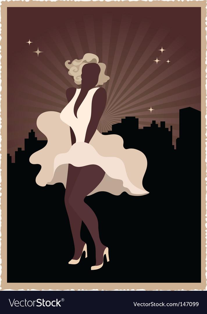 Marilyn Monroe poster vector image