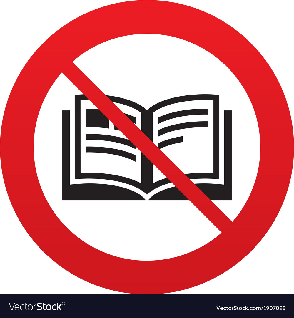 No Book sign icon Open book symbol