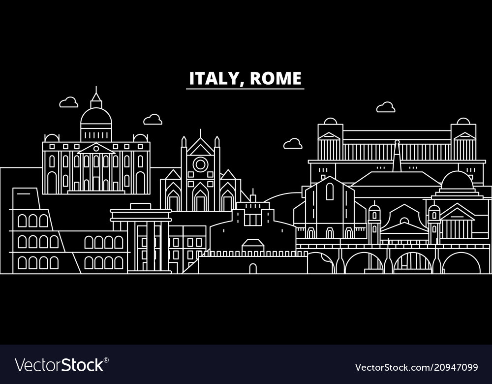 Rome city silhouette skyline italy - rome city vector image