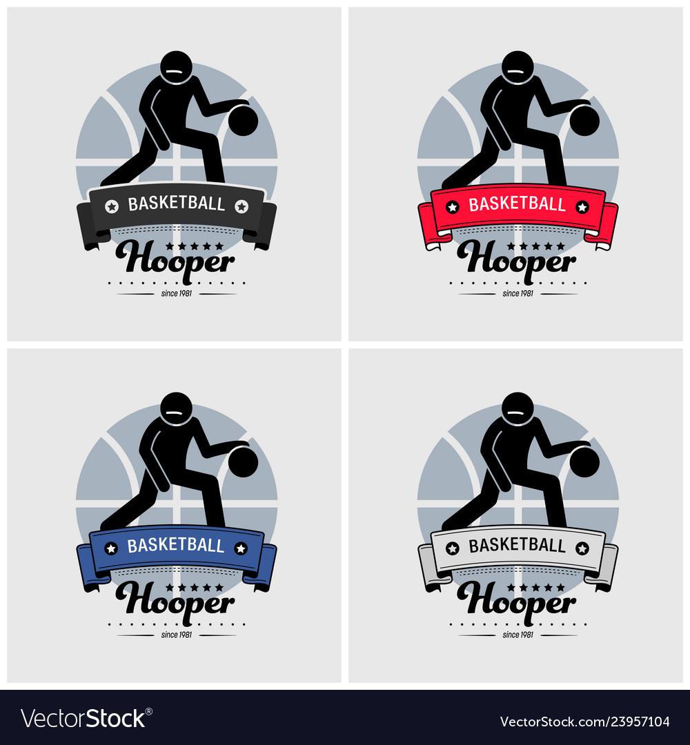 Basketball club logo design artwork of basketball