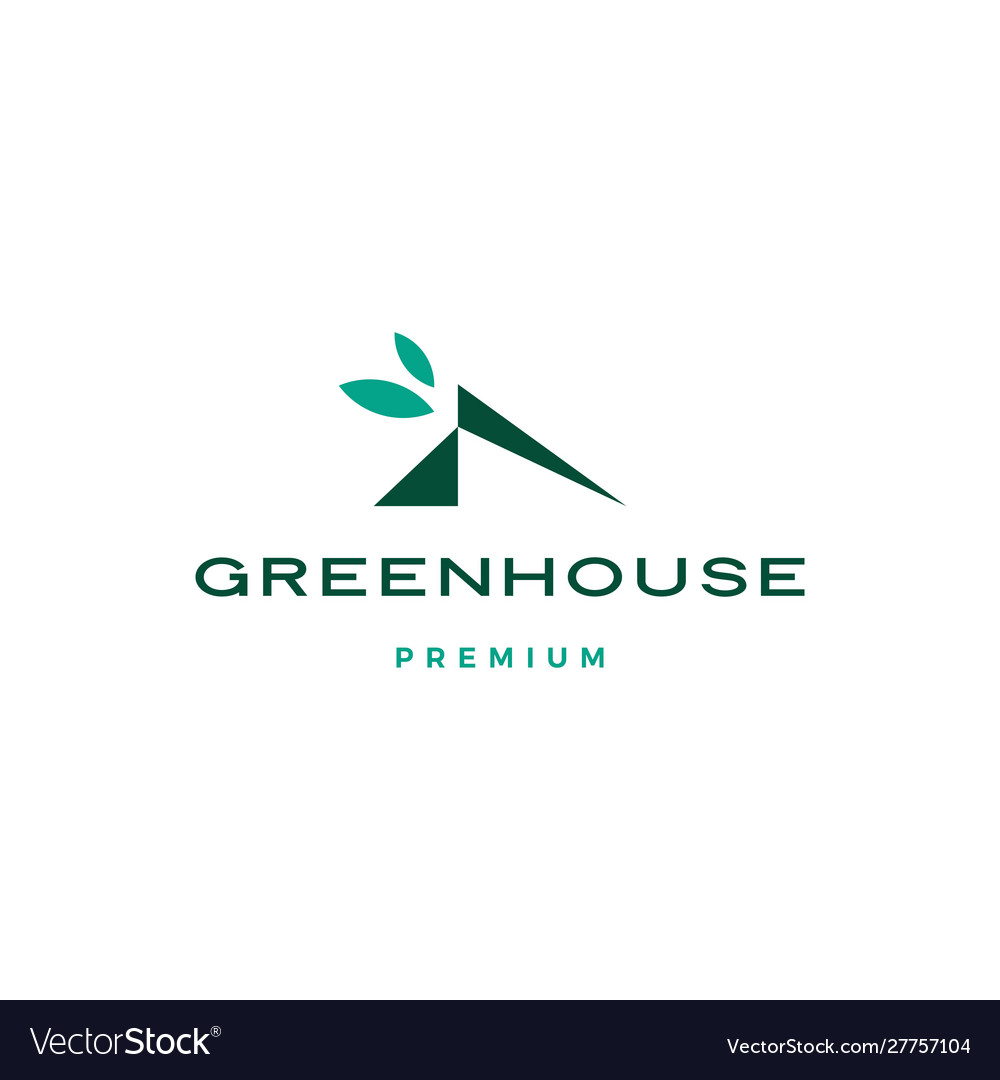 Green house leaf rologo icon