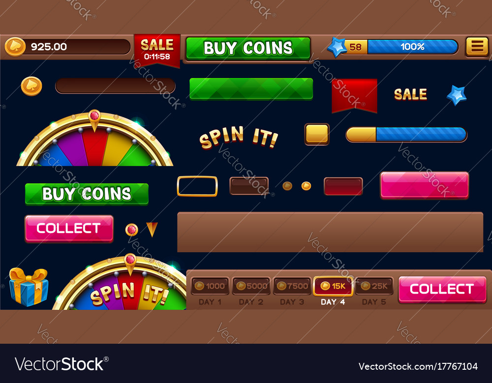 Lobby elements for slots games