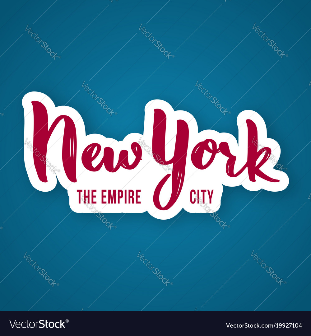 New york the empire city - hand drawn lettering