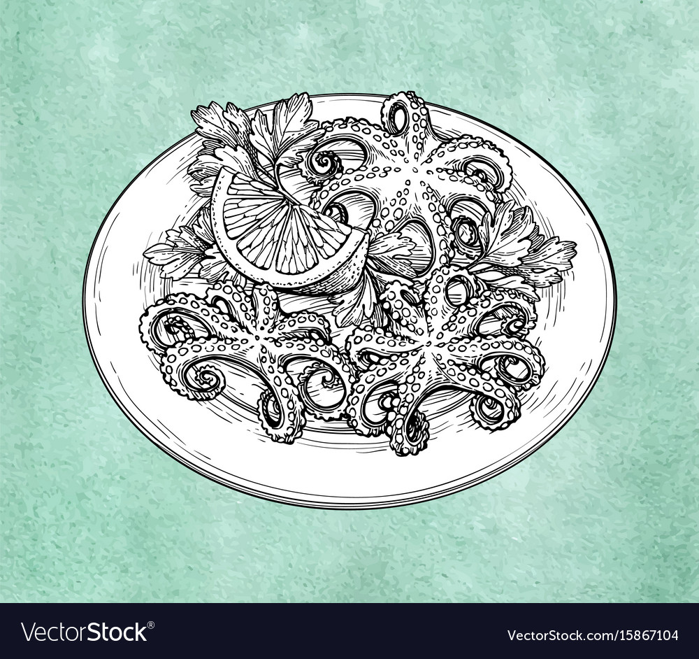 Octopuses on plate