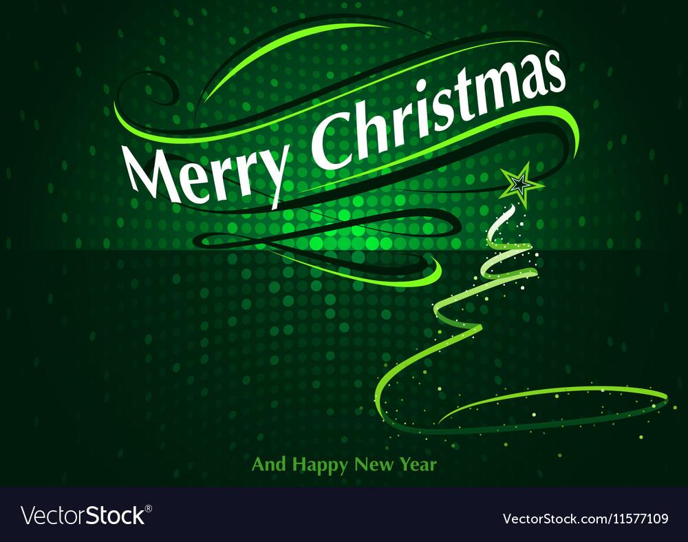 Abstract Green Christmas Greeting