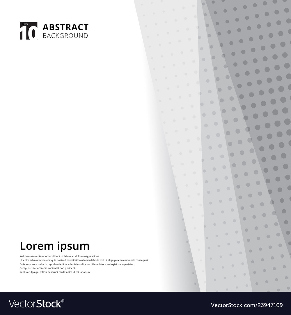 Abstract template design halftone white and grey