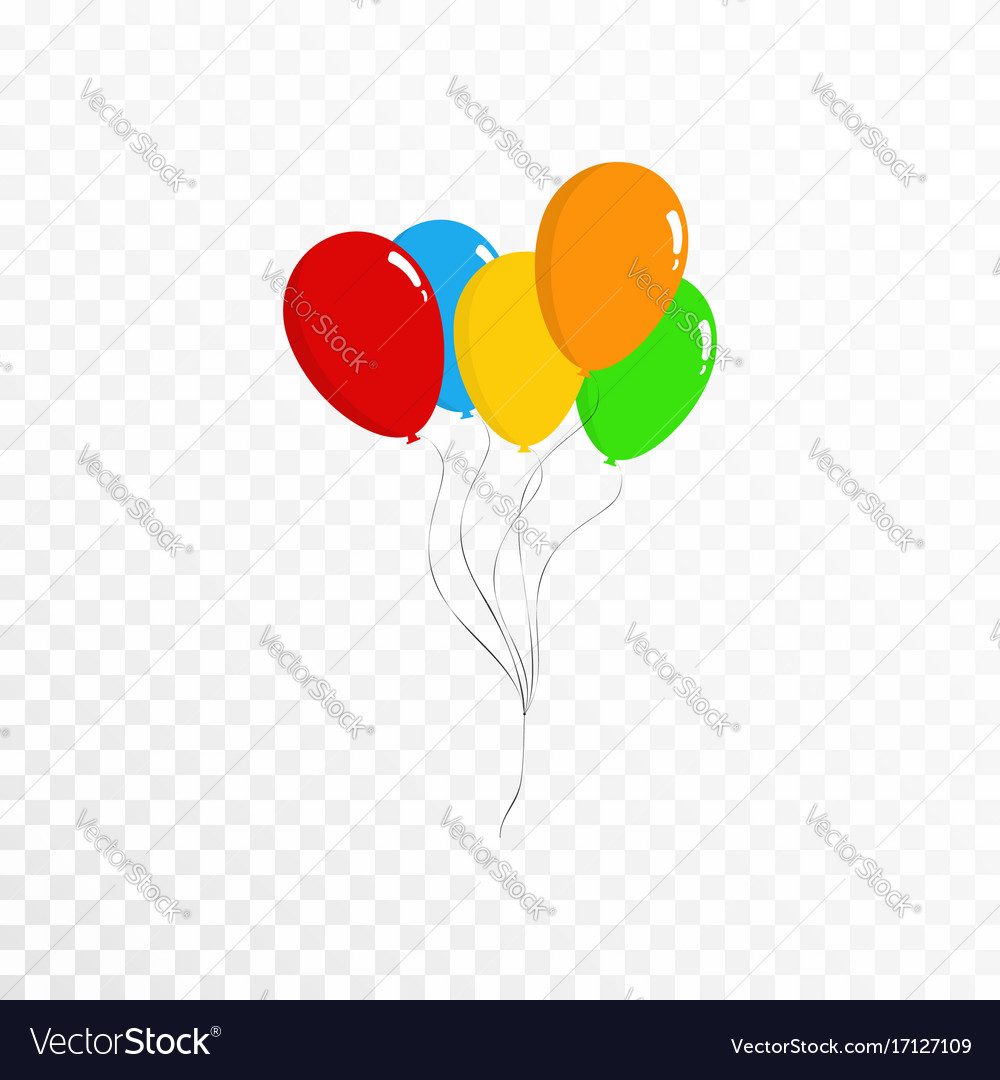 Balloons collection bunch of colorful balloons vector image