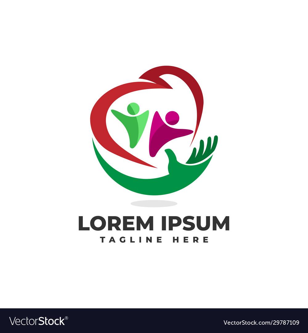 Care family love logo icon