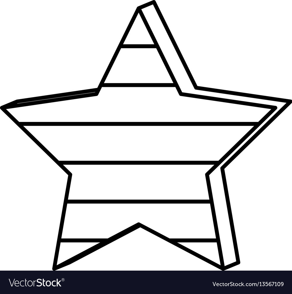 Figure star with stripes independece day icon