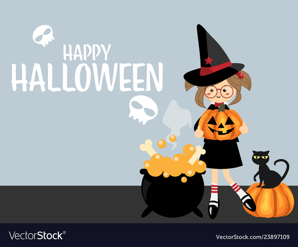 Halloween background with happy halloween text