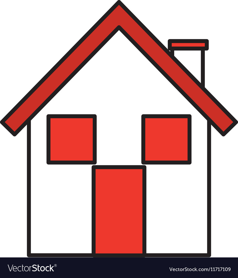 home house silhouette icon royalty free vector image