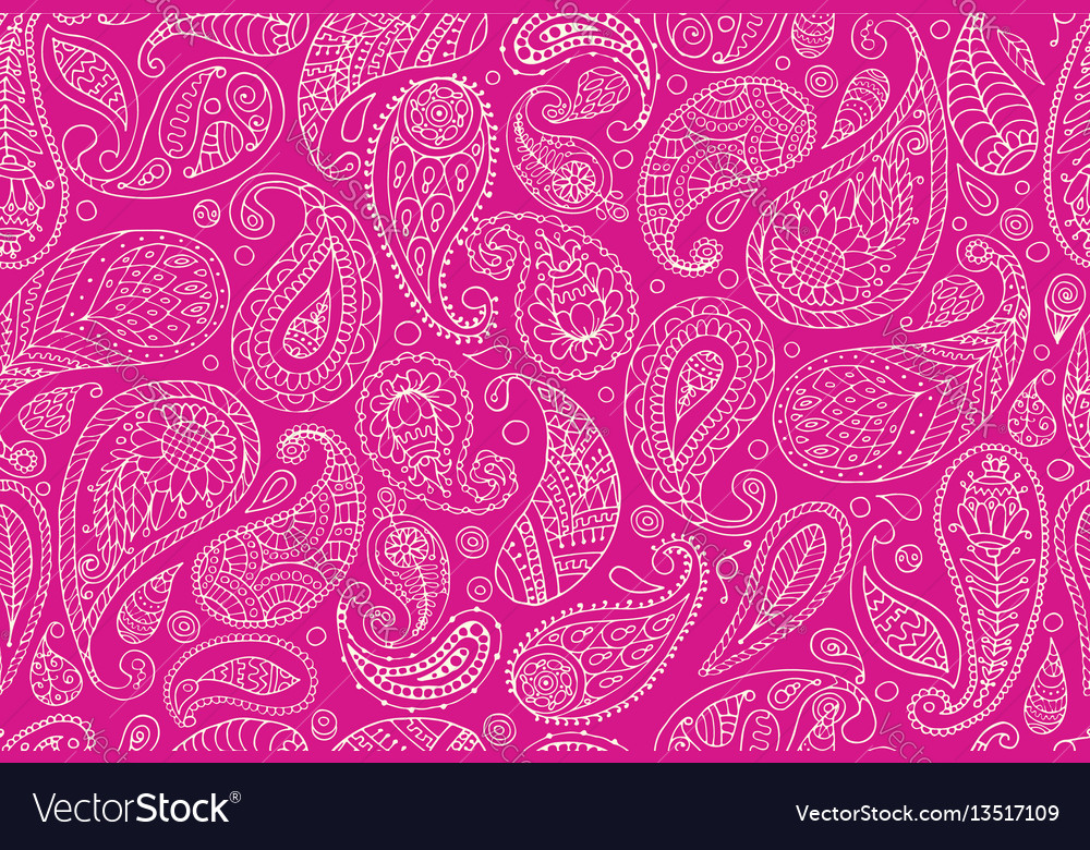Paisley ornament seamless pattern for your design vector image